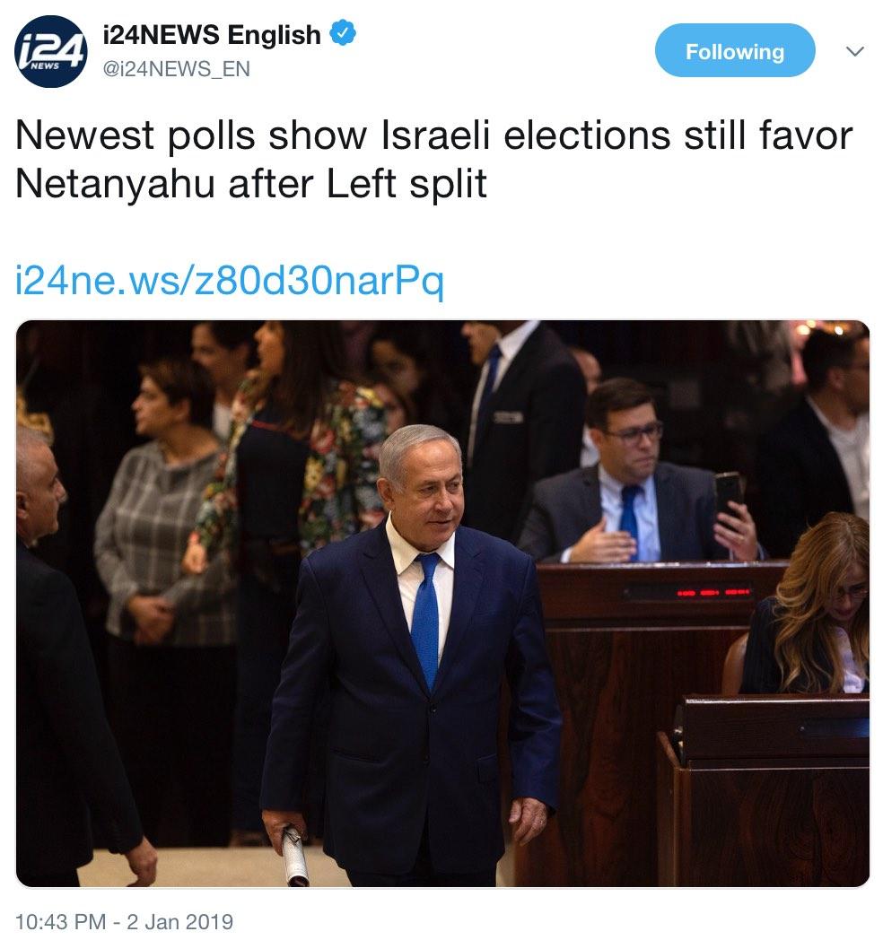 201812NetanyahuElections